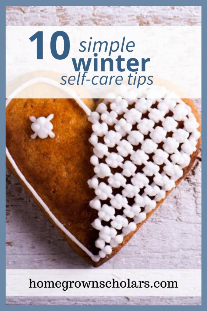 Here's a list of 10 simple winter self-care tips to add to your daily routine. Incorporate these simple ideas to keep you healthy and supported this winter. #winterselfcare #winterwellness #stayinghealthythiswinter #healthandwellness