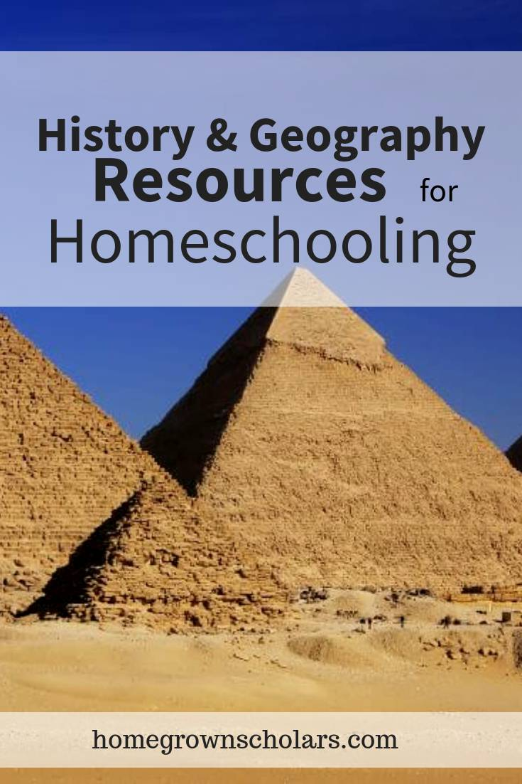 History & Geography Resources for Homeschooling