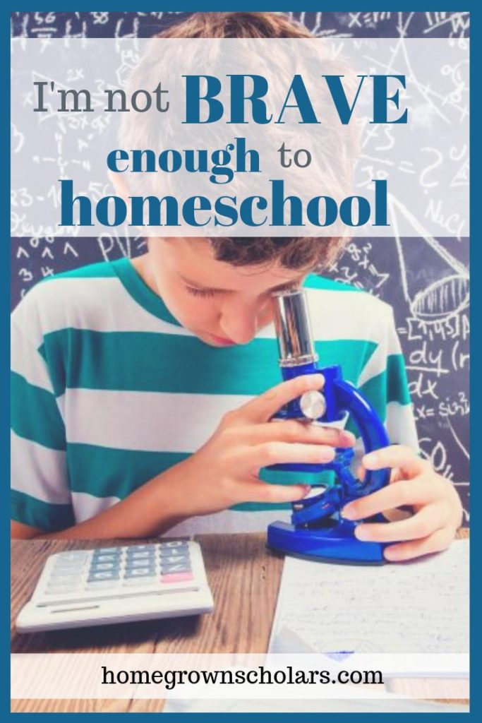 I'm Not Brave Enough to Homeschool!