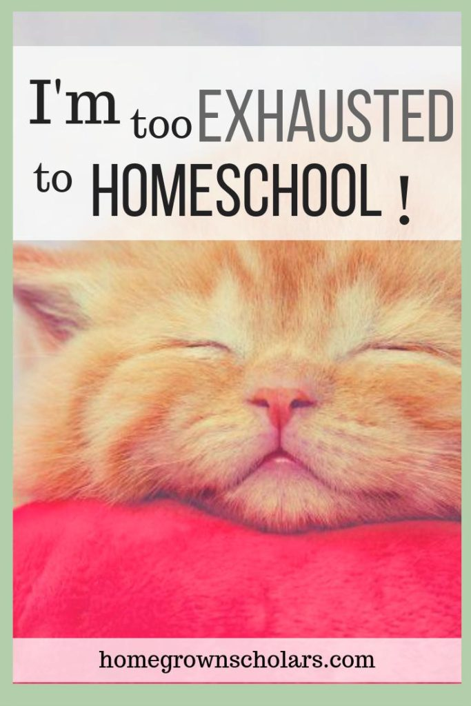 I'm Too Exhausted to Homeschool!