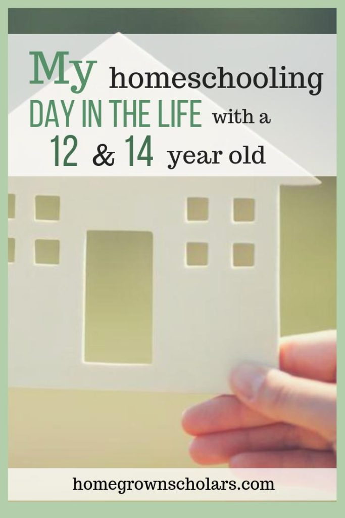My Homeschooling Day in the Life with a 12 & 14-Year Old