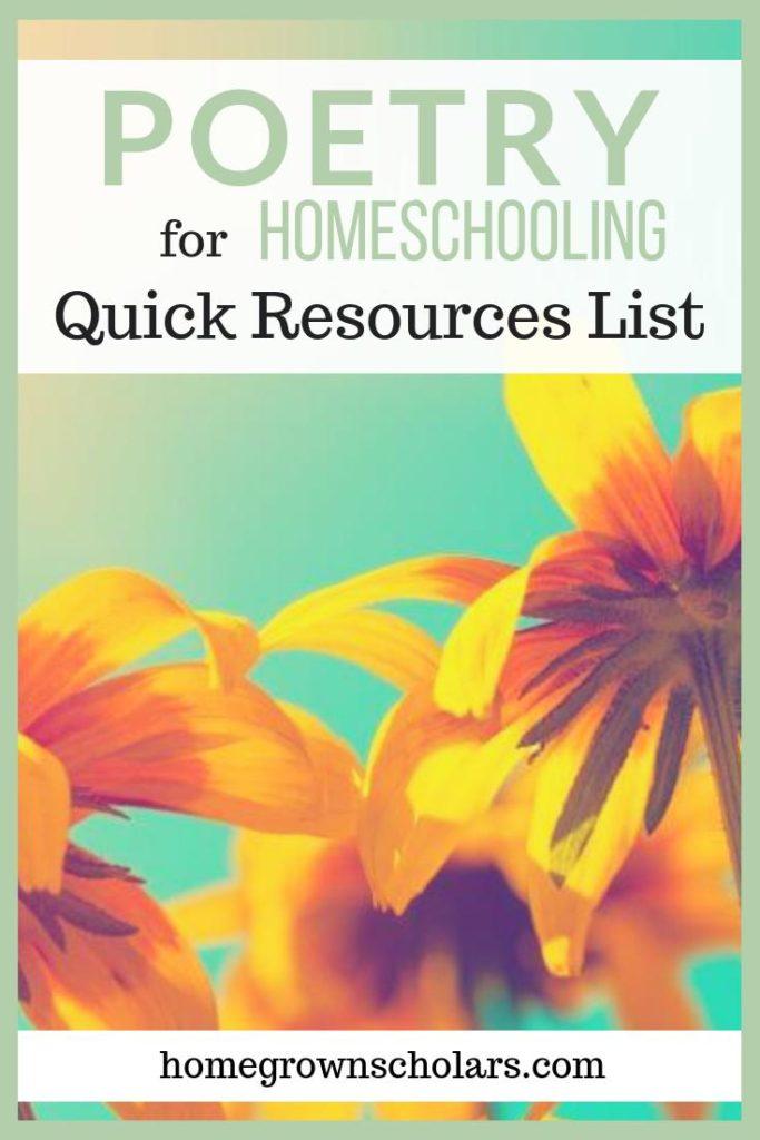 Poetry - Quick Resources List