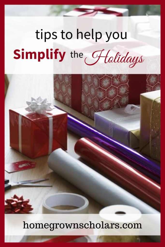 How can we simplify the busy holiday season in order to create space for more joy and peace? Here are simple strategies to help you simplify the holidays! #simpleholidayjoy #peacefulholidays #lessstressmorejoy #holidaytips