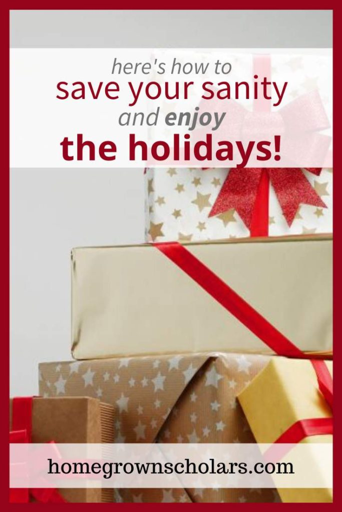 How can we simplify the busy holiday season in order to create space for joy and peace? Save your sanity and enjoy the holidays with these simple strategies to help you simplify the holidays! #simpleholidayjoy #peacefulholidays #lessstressmorejoy #holidaytips #joyandpeace #holidaysanitysavers